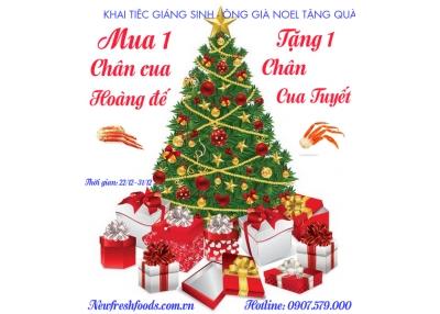 Khai Tiệc Giáng Sinh - Ông Già Noel Tặng Quà Mua 1 Tặng 1