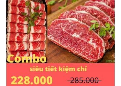 Combo Siêu Khuyến Mãi Bò Mỹ Chỉ 228.000 Đồng
