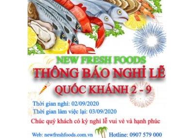 Lịch Nghỉ Lễ 2 -9 Công Ty Tnhh New Fresh Foods